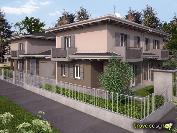 Case con giardino privato in vendita a caravaggio bg for Villette moderne unifamiliari