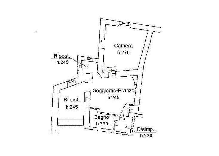 Appartamento a Sassetta (2/5)